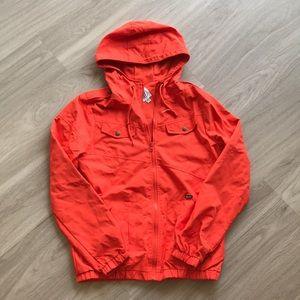 VOLCOM Orange rain jacket- never worn!! Size M
